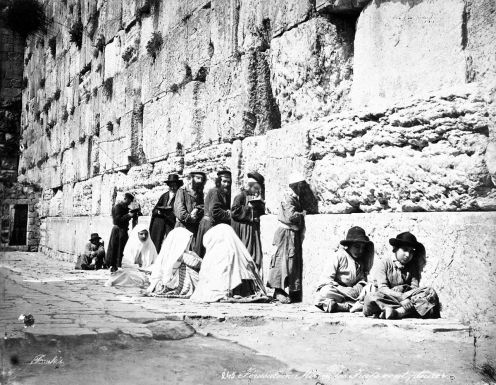 jews_at_western_wall_by_felix_bonfils_1870s